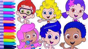 Nickelodeon Bubble Guppies Speed Coloring Activity Page Fun For Kids
