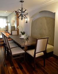 sphere light fixture dining room contemporary with banquette chandelier dining room image by biondi decor