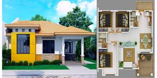 Bungalow Grill Design Modern Bungalow House With 3d Floor Plans And Firewall