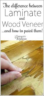 the difference between laminate and wood veneer and how to paint them reality