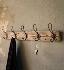Vintage Wall Mounted Coat Rack Recycled Wood WallMount Coat Rack indandweather home 20