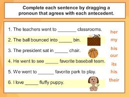 Pronoun Antecedent Agreement Pronoun Antecedent Agreement Digicore Sports Classroom Grammar