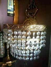 swag crystal chandelier crystal swag lamp vintage brass crystal waterfall swag lighting sconce gorgeous rare swag