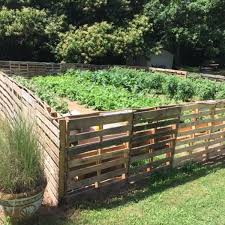 image result for pallet fence garden