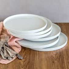 better homes and gardens modern rim dinner plates white set of