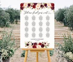 Wedding Table Seating Chart Printable Wedding Seating Chart Template Floral Seating
