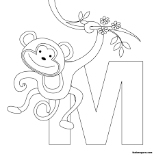 Monkeys Printable Design Coloring Coloring Pages