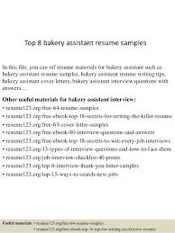 Baker Assistant Sample Resume top10000bakeryassistantresumesamples1006310000jpgcb=10043100742775 2