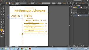 graphic resumes and adobe illustrator mohamed s blog in progress improvment
