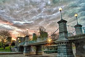 file bridge at sunrise boston public garden jpg