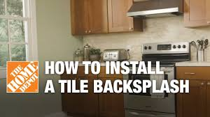 How To Install A Kitchen Tile Backsplash Kitchen The Home Depot