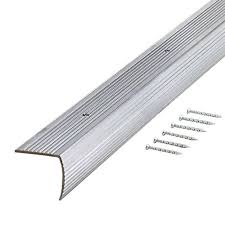 trafficmaster silver fluted 36 in stair edging