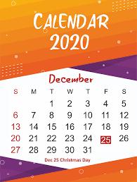 Blank Dec 2020 Calendar Free December 2020 Printable Calendar Template In Pdf Word