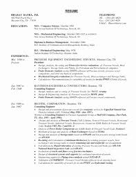 Mechanical Engineering Resume Templates New Resume Format For