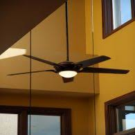 Fan With Drop Down Rod And A Tall Ceiling