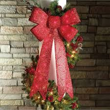 Lighted Holiday Bow