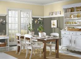 painted dining room furniture ideas. Warm Grey And Cream Paint Color Ideas For Dining Room With Wainscoting Home Painted Furniture S