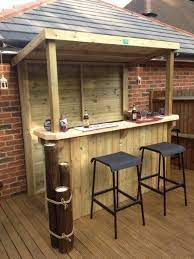 diy outdoor bar outdoor garden bar