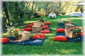 picnic wedding reception. Fun Ideas for a Picnic Wedding Reception