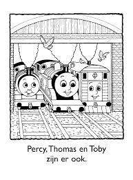 Kleurplaten Paradijs Kleurplaat Percy Thomas En Toby Zijn Er Ook