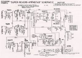 vintage fender schematics layout diagrams vintage fender amp super reverb ab763 schematic