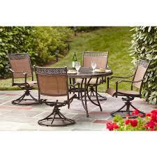hampton bay niles park 5 piece sling patio dining set