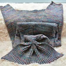 Mermaid Blanket Knitting Pattern Delectable FADFAY Mermaid Blanket Knitting Pattern Blanket Mermaid Tail Blanket