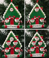 Candy Cane House Decorations Cane House Family Personalised Christmas Tree Decoration 71