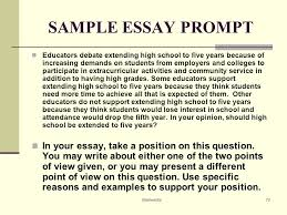 helping all students succeed at the act ppt  sample essay prompt