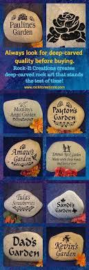 engraved garden stones personalized custom garden rocks engraved garden markers custom garden decor rocks custom landscaping rocks engraved