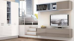 Tv Wall Unit Contemporary Tv Wall Unit Lacquered Wood Noemi Cucine Lube