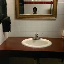 photo of round table pizza las vegas nv united states womens bathroom