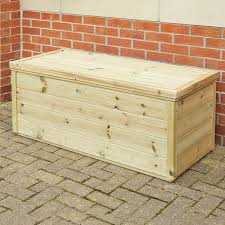 large outdoor wooden storage chest small
