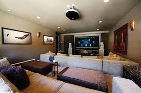 home theater installation. home automation integrated into custom theater room installation