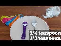 3 4 teaspoon of baking soda 1 3