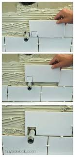 installing wall tile how to install tile on walls how to cut around fixtures when tiling