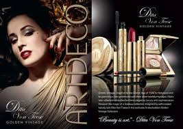 makeup collection with artdeco the artdeco dita von teese golden vine collection