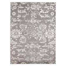 contemporary design transitional floor area rug istanbul washed out grey allover