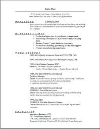 Resume Objectives Samples General First Class Generic Objective For