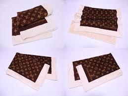 it is louis vuitton louis vuitton monogram bath towel beach towel towel lady s men brown x beige 100 cotton soot used
