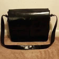 wilsons leather messenger bag studio black