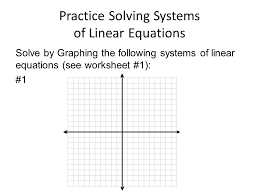 7 practice solving systems of linear equations solve by graphing the following systems of linear equations see worksheet 1 1