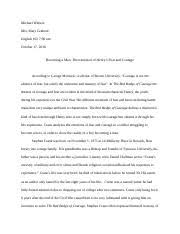 henry has internal conflicts of fear and courage in him it  5 pages english red badge essay