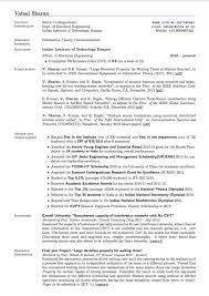 What Does An Electrical Engineer S Resume Look Like Quora