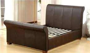 leather sleigh bed king size beautiful leather sleigh bed king impressive king size sleigh bed frame leather sleigh bed king