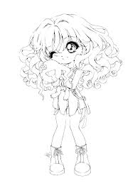 Coloring Pages Japanese Girl Coloring Pages Page Adult Art Anime