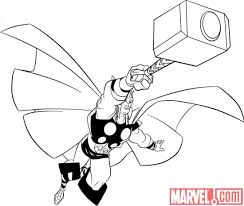 Small Picture 10 Best Thor Coloring Pages For Toddlers Coloring Coloring Pages