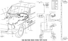 vintage mustang wiring diagrams 65 Mustang Wiring Diagram 66 accessories schematic · 66 stereo tape player details 65 mustang wiring diagram of fuse box