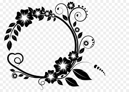 picture frame flower clip art white flower frame png free