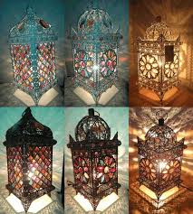 moroccan inspired lighting. amazing of moroccan inspired lighting flower table lamp ebay